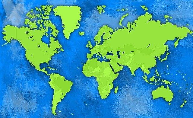 mapa świata ilustrująca artykuł o magazynach energii na świecie