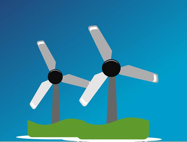 turbiny wiatrowe na wyspie