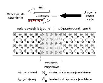 Rozkład nośników w oświetlonym ogniwie PV