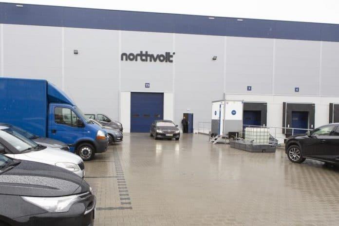 wjazd do fabryki baterii Northvolt