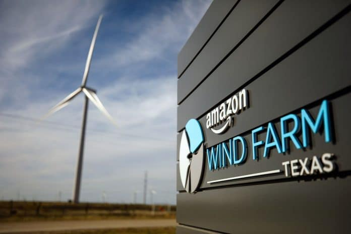 Farma wiatrowa Amazona w Teksasie