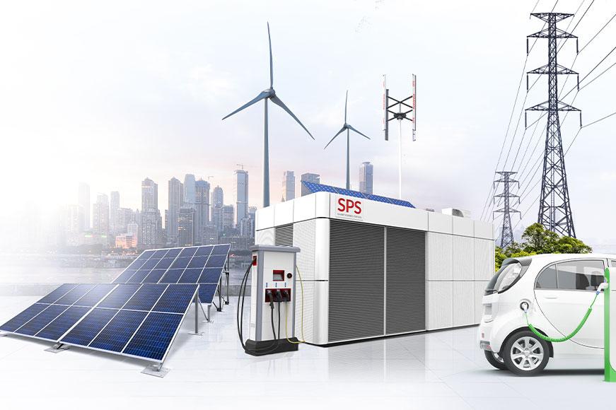 SPS stacja z magazynem energii ZPUE