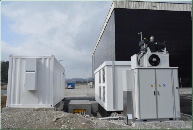System magazynowania wraz z falownikiem i stacją transformatorową