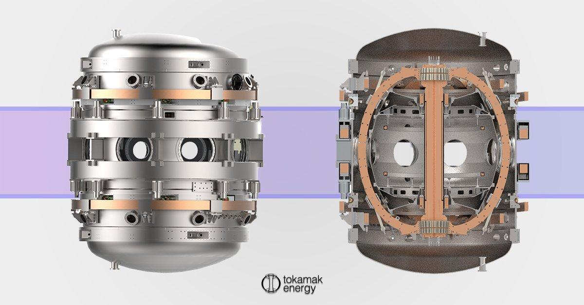 Render tokomaka z zewnątrz i przekroju wewnętrznego – reaktor syntezy jądrowej