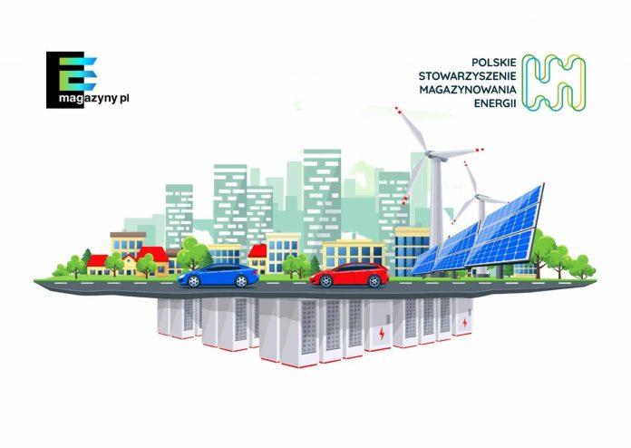 grafika – współpraca portalu e-magazny.pl i Polskiego Stowarzyszenia Magazynowania Energii