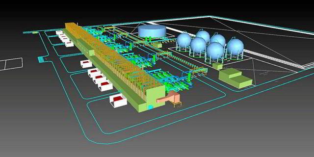 Model 3D projektu Hydrostor 500MW - magazyn sprężone powietrze