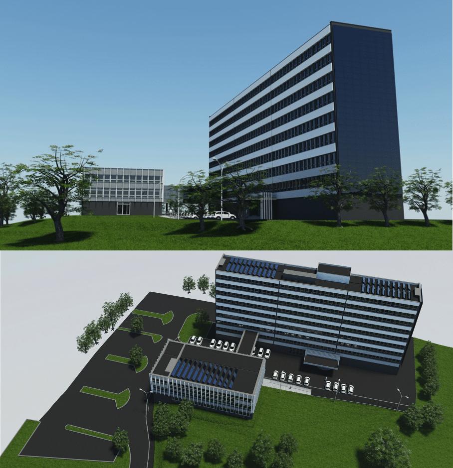Przykładowa implementacja instalacji fotowoltaicznej na budynkach biurowych