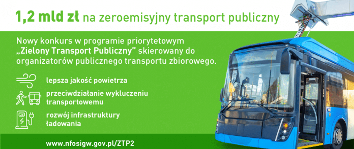 1,2 mld na zeroemisyjny transport publiczny. Nowy konkurs w programie