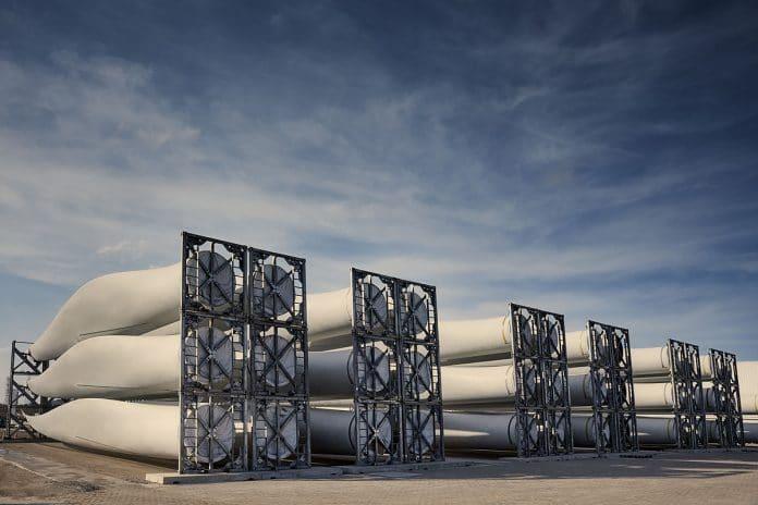 składowanie turbin wiatrowych
